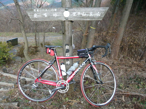 白石峠 自転車にて